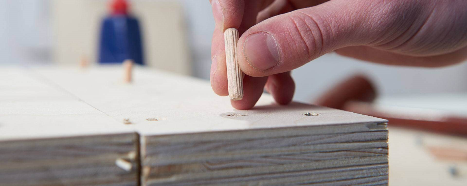 How to join wood with dowels for Assemblage bois angle droit